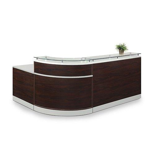 Esquire Glass Top Reception Desk 79