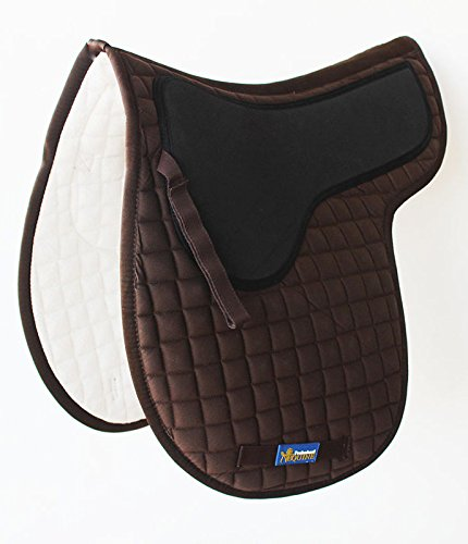 Horse Quilted ENGLISH SADDLE PAD Trail Contoured Gel 72F46   B0765983WS