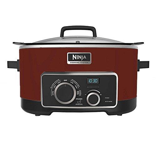 NINJA 4-in-1 Cooking System, Cinnamon/Red, 6 Qt (Certified Refurbished)