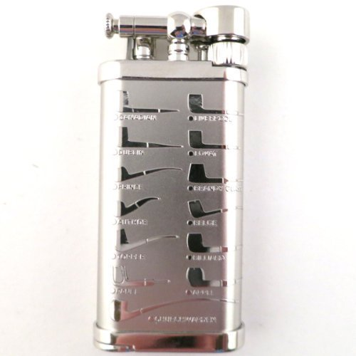 IM Corona Old Boy Rhodium Pipe Shapes Pipe Lighter