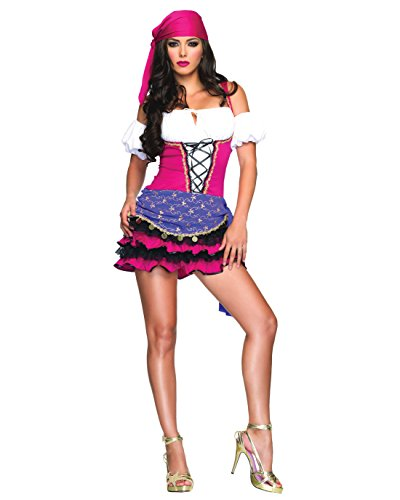 Fortune Teller Costume Ideas (Sexy Gypsy Costume Pink Fortune Teller Theatre Costumes Womens Sizes: Medium-Large)