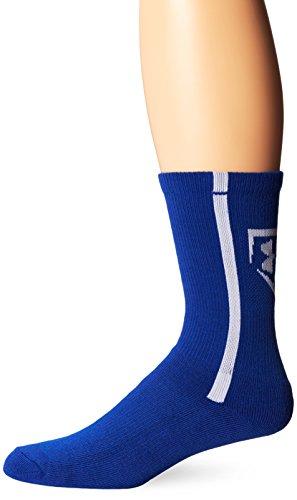 Under Armour Men's Baseball Crew Socks (1 Pair), Royal/White, Medium