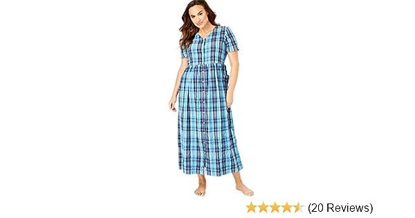 Only Necessities Women\'s Plus Size Long Seersucker Lounger - Bright ...