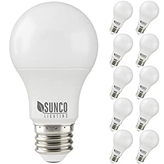 Sunco Lighting 10 Pack A19 LED Bulb, 3W=25W, 2700K Soft White, 250 LM, Dimmable, E26 Base, Indoor Light - UL