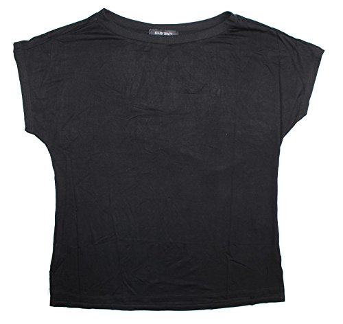 Ellen Tracy Womens Dolman Short Sleeve Top (XX-Large, Black Magic)