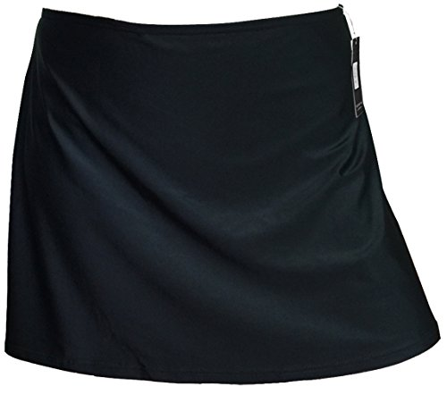 Gabrielle-Aug Women's Solid Black Sports Skirt Bottom Swimsuit(FBA) (10, Black)