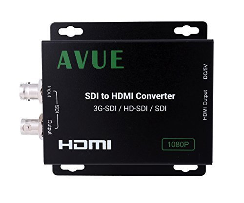 - AVUE SDH-R01 SDI TO HDMI Converter Supportss 3G-SDI / HD-SDI / SDI One looping SDI Output