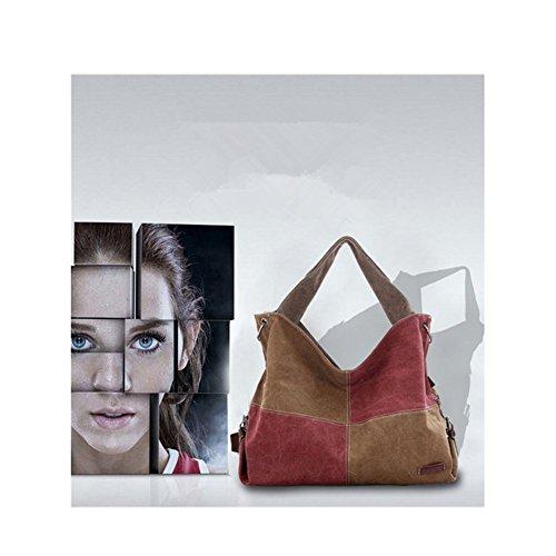 bolso Xagoo del bolso de la lona ideal para la mujer chica con correas ajustables (Estilo 2) Estilo 1