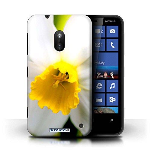 Kobalt® Imprimé Etui / Coque pour Nokia Lumia 620 / Fleur blanche conception / Série floral Fleurs