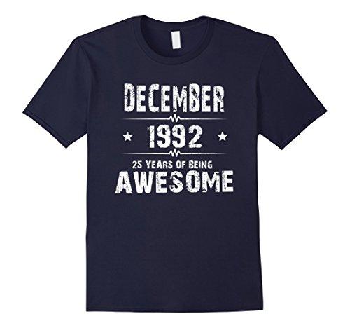 Mens 25 Year Old Shirt. Gift for Birthday December 1992 Shirt 2XL Navy