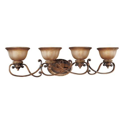 "Minka Lavery ML 6354 4 Light 42"" Width Bathroom Vanity Light, Illuminati Bronze"