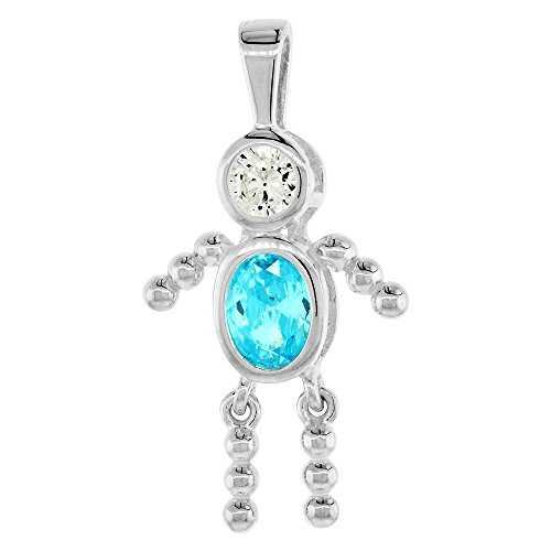 th little charm zoom diamond pendant gold boy baby dsc real small