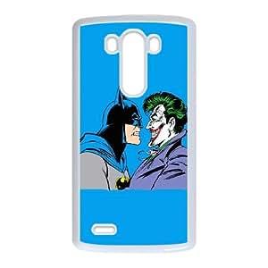 Batman vs Joker Blue Background LG G3 Cell Phone Case White Protect your phone BVS_607814