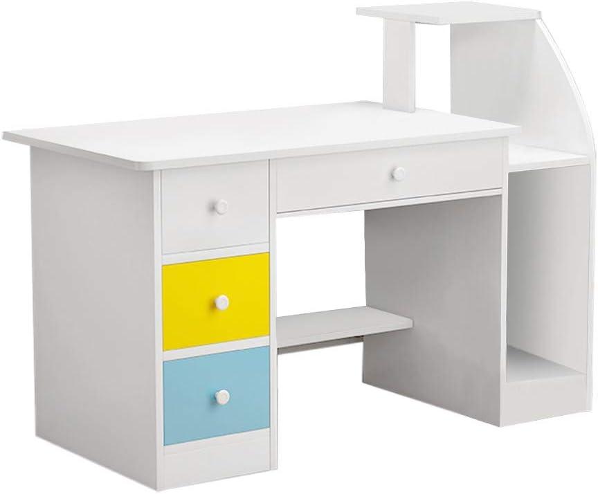 Home Office Desk Computer Desk, Modern Simple Desktop Computer Desk Laptop Desk with Drawer Shelf, Office Home Modern Small Desk, Student Study Table Writing Table Gaming Desk Office Desk