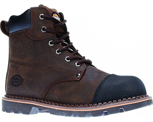 Leather Dickies Steel Brown Toe Workwear Work FD9210 Boot Safety Crawford Twxqwtnv64
