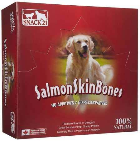 (Salmon Skin Bone For Dogs By Snack 21 (Box With 18)