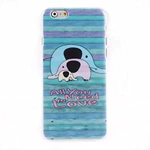 QJM All You Need is Love Design Hard Case for iPhone 6