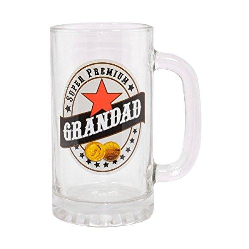 """1 opinioni per Boccale in vetro con scritta """"Super Premium Grandad"""" in confezione regalo per"""