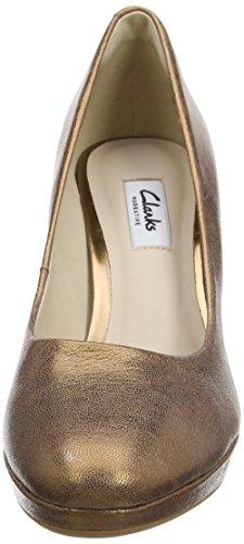 Clarks Zapatos Bronze para Tacón de Metallic Kendra Gris Mujer Sienna 7fxrq17