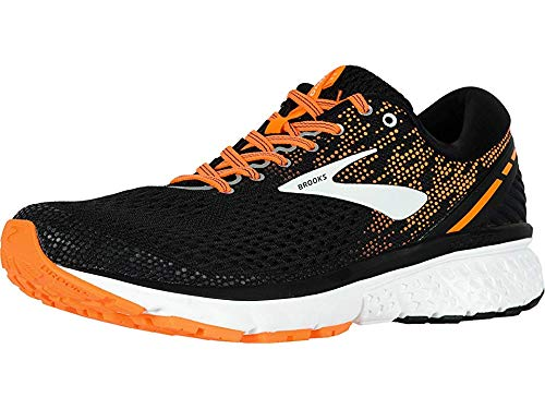 Brooks Men's Ghost 11 Black/Silver/Orange 12.5 D -