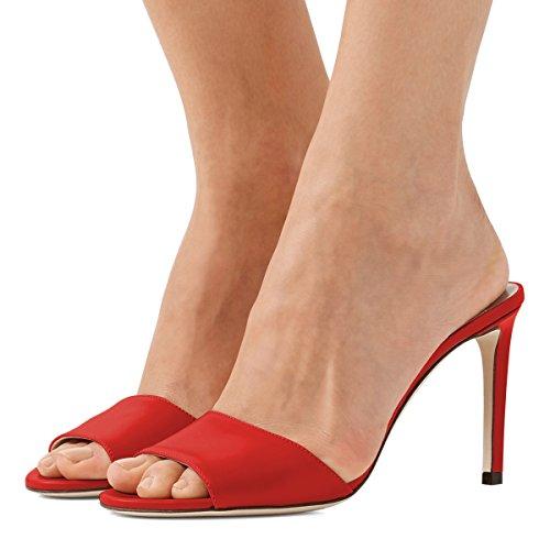 Fsj Femmes Casual Peep Toe Mule Sandales Talons Hauts Talons Soirée  Chaussures Taille 4-15 3899e6cb79e
