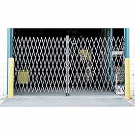 10'W Double Folding Security Gate, 6-1/2'H by Global Industrial
