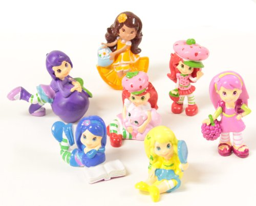 Strawberry Shortcake Toy Figures Lot Of 7 Pcs Mini Figures Cake Topper
