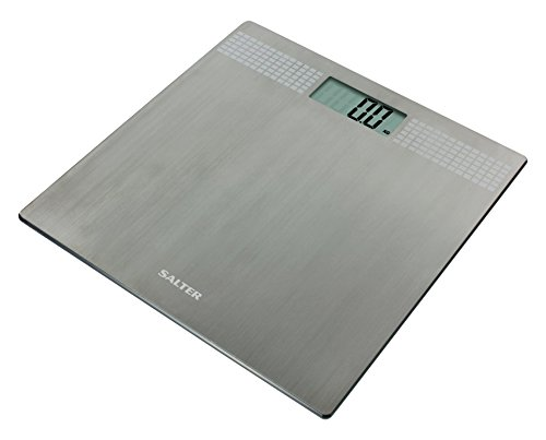 Salter Ultra Slim Stainless Steel Digital Bathroom Scales – Electronic Body Weighing Scale, Large Platform, Easy Read Display, Instant Metric / Imperial Readings with Step On – 15 Year Guarantee
