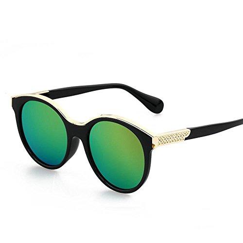 Aoligei Lunettes de soleil rétro mode lunettes réfléchissantes de couleur vive C