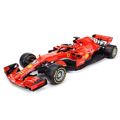 (2018 Ferrari Racing Formula 1 F1 SF71H #7 Kimi Raikkonen 1/18 Diecast Model Car by Bburago 16806KR)