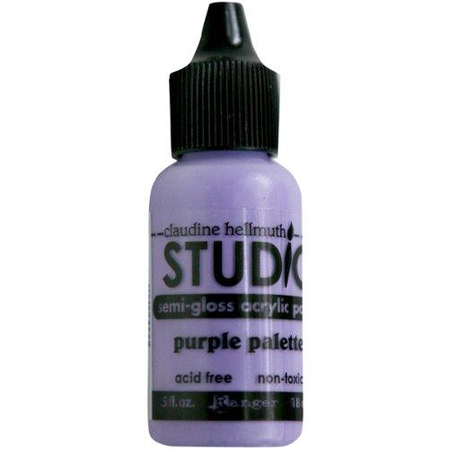Ranger Claudine Hellmuth Studio Line Mini Paints .05 Ounces-Purple Palette ()