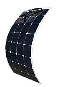 WindyNation 100W 100 Watt 12V Bendable Flexible Thin Lightweight Solar Panel Battery Charger w/ Power Sunpower Cells for RV, Boat, Cabin, Off-Grid