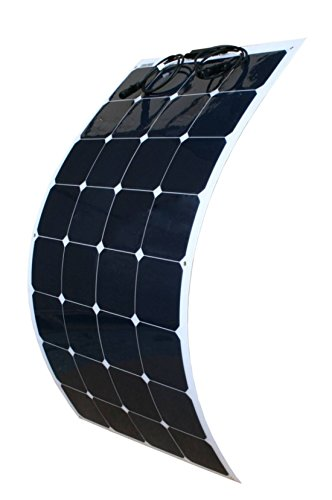 WindyNation 100W 100 Watt 12V Bendable Flexible Thin Lightweight Solar Panel Battery Charger w/ Power Sunpower Cells for RV, Boat, Cabin, Off-Grid by WindyNation
