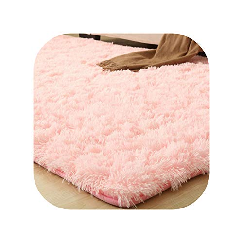 9 Colors Solid Rugs Pink Purple Carpet Thicker Bathroom Non-Slip Mat Area Rug for Living Room Soft Child Bedroom Mat Vloerkleed,Pink Carpet,160x200cm