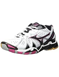 Mizuno Women's Wave Tornado 9 Woms Wh-Pk Volleyball Shoe