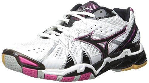 Mizuno Women\'s Wave Tornado 9 Woms Wh-Pk Volleyball Shoe
