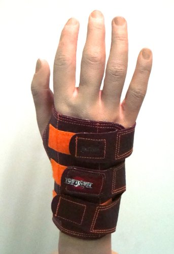 High Skore Wrist Support Bowling Glove Right Hand Brown Fits small medium or large by High Skore