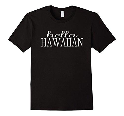 Mens Hella Hawaiian Aloha Hawaii Hapa Funny Proud Shocka T-shirt XL - Fashion Hapa