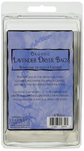 Lavender Dryer (Starwest Botanicals Organic Lavender Dryer Bags, 4 Count)