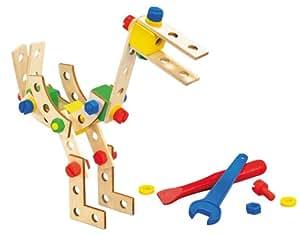 HEROS 100030042 - Ave en madera para montar, 40 piezas