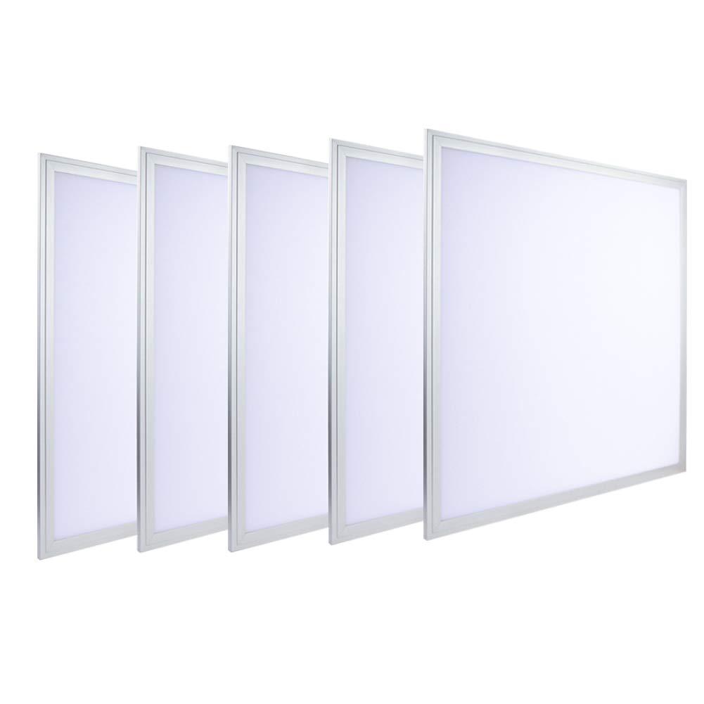 LUMINOSUM, LED Troffer 2x2 Ft Edge-Lit Panel, 36W (80W Equivalent), Cool White 6000k, 3240lm, Office Lighting, 5-pack