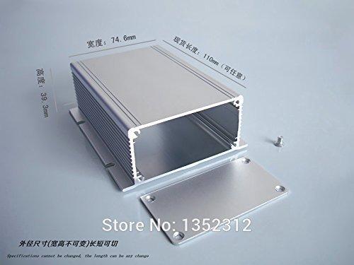 Generic One pcs 8840110mm Aluminum Box for electronic wall mountProject PCB DIY Aluminum shell heat dissipation power amplifier box
