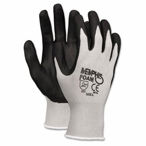 Memphis 9673XL Economy Foam Nitrile Gloves, X-Large, Gray/Black, 12 Pairs