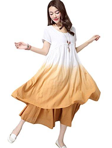 MatchLife - Vestido - vestido - para mujer Style2-Yellow