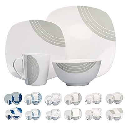 Hekers Campinggeschirr Melamin Geschirr 16-teilig für 4 Personen (Design/Farbe wählbar) Picknickgeschirr