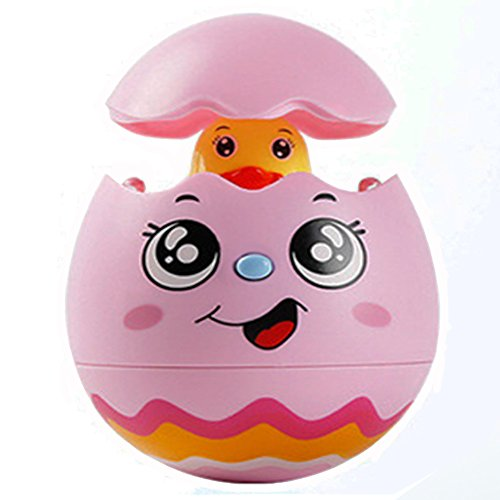 Enkman Egg Toys for Newborn Baby, Easter Eggs with Music, Flashing Light, Gift for Preschool Boys, Girls, Birthday, Christmas, Halloween, Children's Day Presents (Battery Are Not (Name The Day After Halloween)