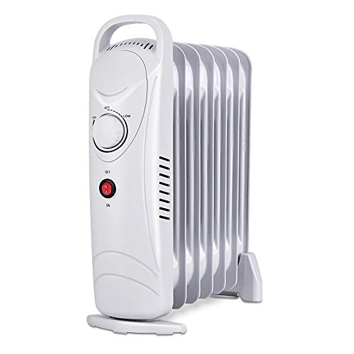 TRUSTECH Oil Heater, Overheating Protection, Portable Compact Mini Radiator for Home and Office, 700W, Small, ()