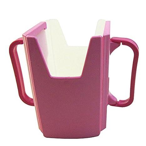 TOOGOO(R) Baby Child Universal Juice Pouch Milk Box Holder Cup Toddler Self-Helper pink SHOMAGT11287