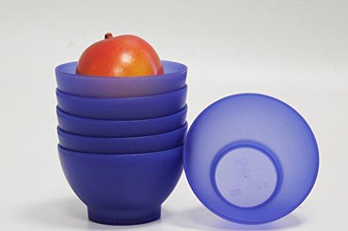 blue red ice cream bowls - 5