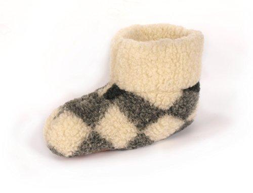 Pour femmes 100%  Pure laine de mouton chaussons avec semelle en daim
